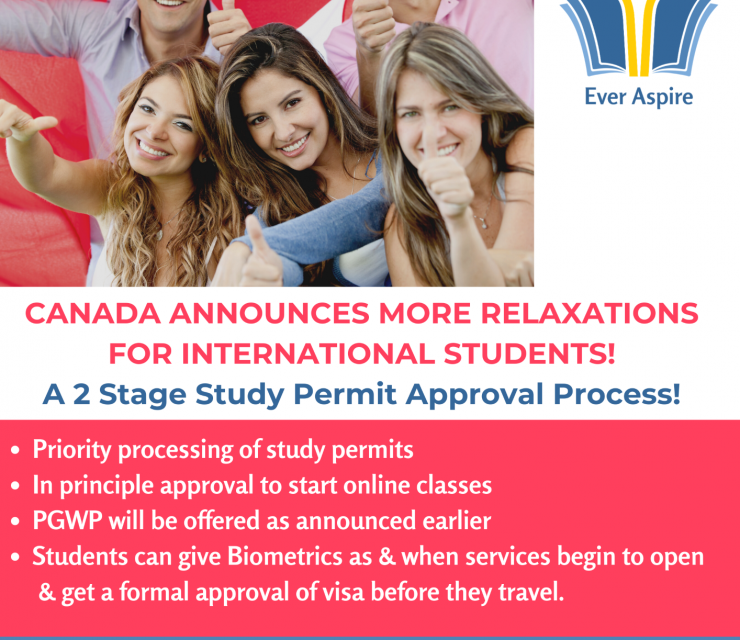 Canada announces relaxations for International Students